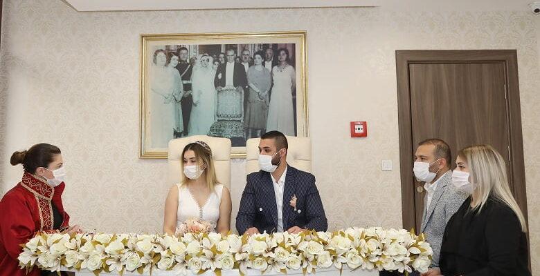 Çankaya'da korona günlerinde nikahlar hız kesmedi