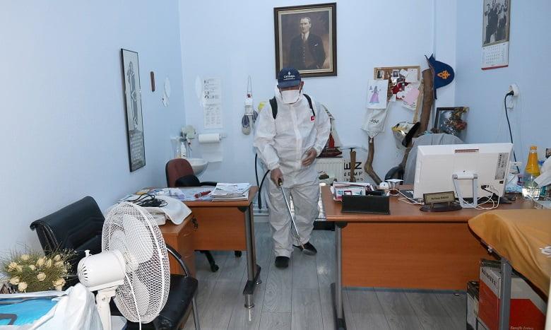 Çankaya'da Dezenfekte Çalışmaları Sürüyor