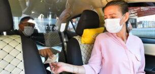Taksiler şeffaf panellerle güvenli hale geliyor