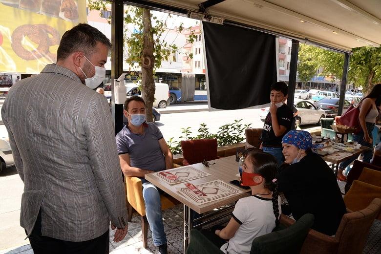 Pursaklar'da Esnaf Ve Vatandaşlara Virüs Uyarısı