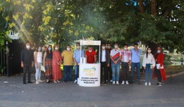 AK Parti Çankaya Gençlik Kollarından üyelik standı