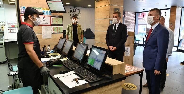 Kaymakam Sırmalı ve Başkan Köse'den Koronavirüs Denetimi