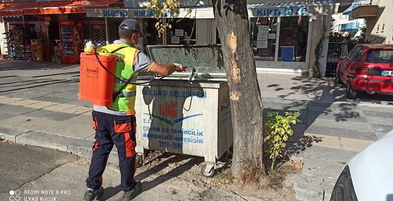 Gölbaşı Belediyesi temizlik ve dezenfekte çalışmalarına devam ediyor