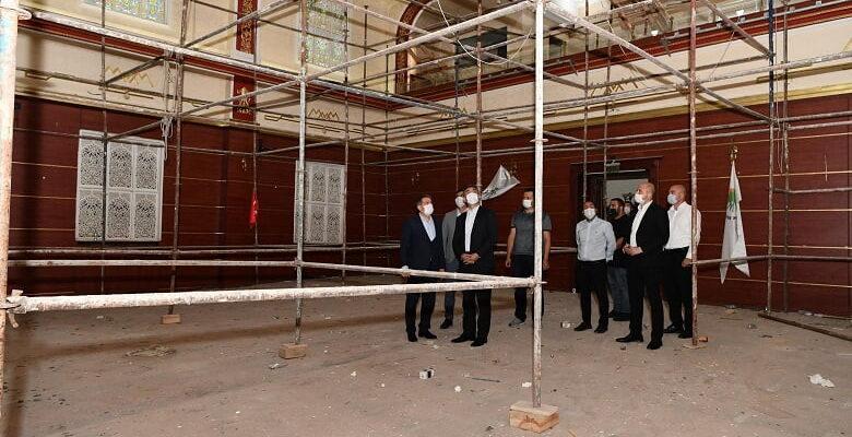 Başkan Köse Musiki Muallim Mektebi Restore Çalışmalarını İnceledi