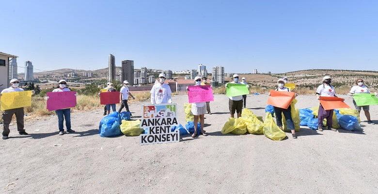 Ankara Kent Konseyi'nden temizlik etkinliği