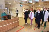 Altınok'tan sağlık çalışanlarına destek ziyareti