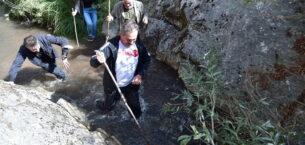 Başkan Köse ve Doğa Gönüllüleri Saklı Cennet Kıbrıs Kanyonu'na Yürüdü