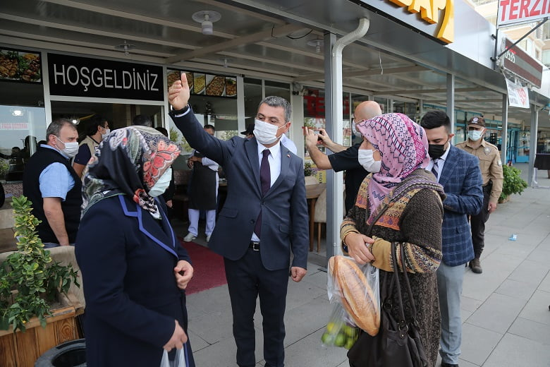 Gölbaşı Belediye Başkanı Ramazan Şimşek'den Covid-19 Denetimi