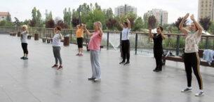 Çankaya'da Açık Havada Spora Devam
