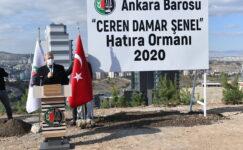 25 Kasım'da anlamlı açılış: Ceren Damar Şenel'in adı Ankara'da hatıra ormanı ile yaşayacak