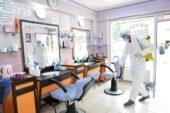 Mamak'ta işyerlerini dezenfekte işlemi devam ediyor