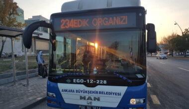 EGO'dan OSB otobüs ve raylı sistem hatlarına pandemi ayarı