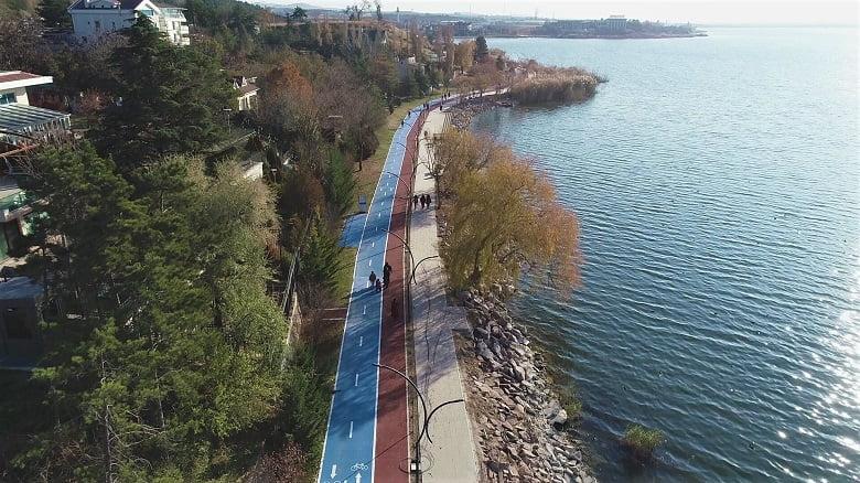 Gölbaşı Belediyesi 1. Etap Bisiklet Yolu'nu Tamamladı