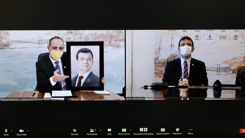 """İBB yeni dönemin ilk """"Kardeşlik Protokolü""""nü Lefkoşa ile imzaladı"""