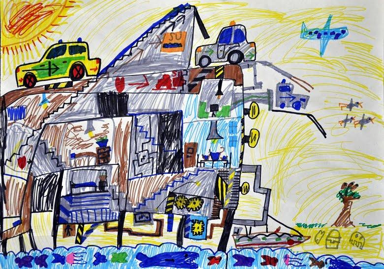 İç Anadolu Bölgesi'ndeki çocuklar resimlerine pandemiyi taşıdı