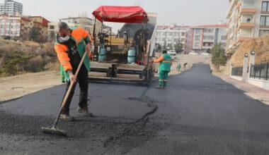 Çankaya'da mevsim sonuna kadar asfalt