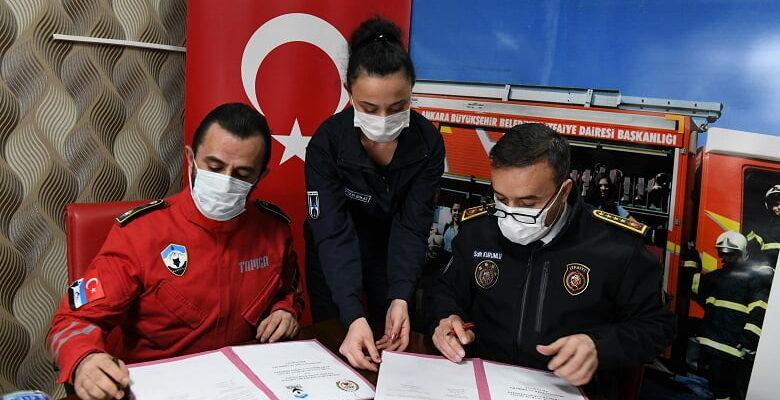 Ankara İtfaiyesi TAMGA ile işbirliği yapacak