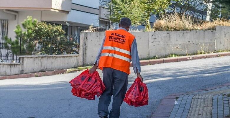 146 bin haneye çöp poşeti