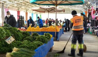 Altındağ'da pazarlar kontrol altında