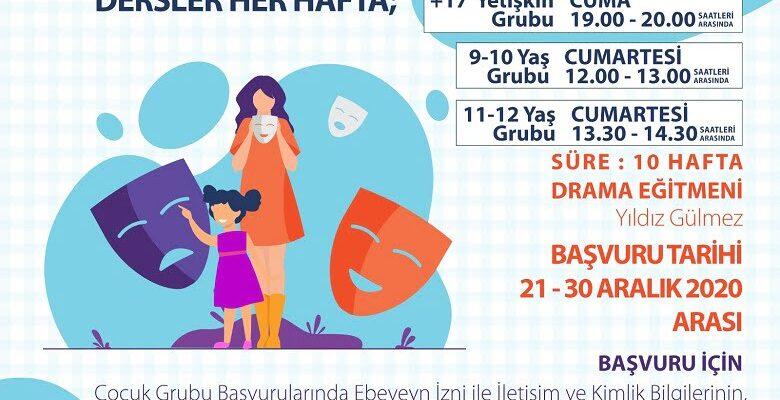Büyükşehir'den yeni yılda online drama dersi