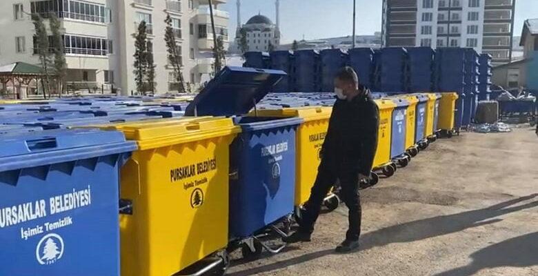 Pursaklar'a Yeni Nesil Çöp Konteynerleri