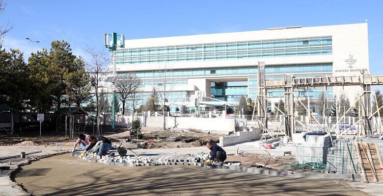 Ahatlıbel Atatürk Parkı yenileniyor