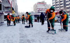 Çankaya'da karla mücadele