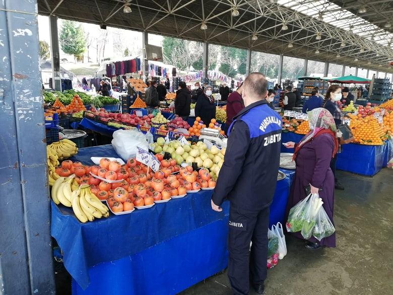 Pursaklar'da pazar yerlerine sıkı denetim