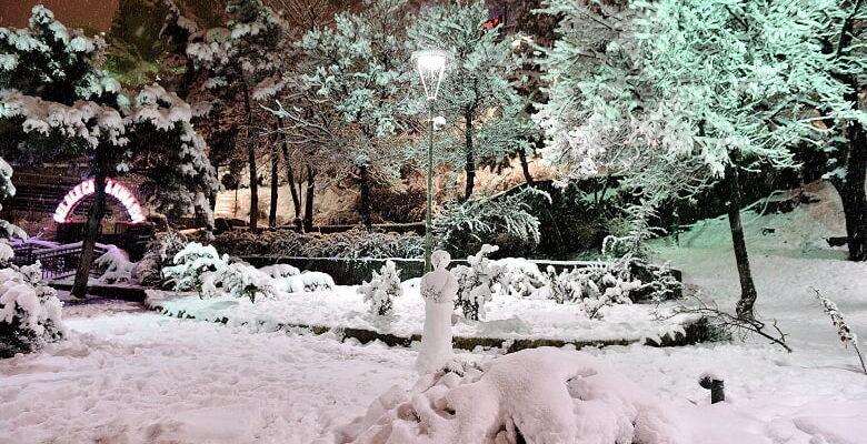 Mamak'a kar güzelliğiyle birlikte geldi