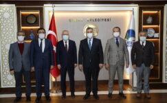 Rektörler Aydınlı Ve Şarlı, Çubuk Belediye Başkanı Demirbaş'ı Ziyaret Etti