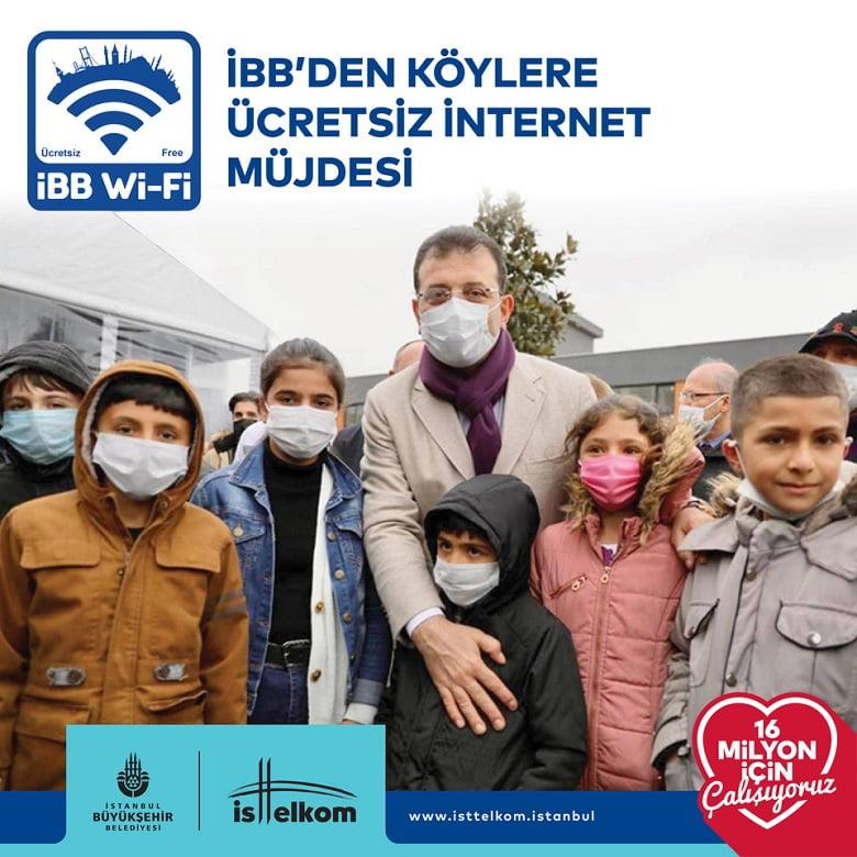 İBB'den köylere ücretsiz internet hizmeti