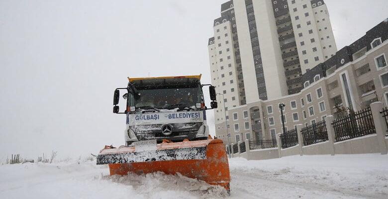 Gölbaşı Belediyesi 1500 Ton Tuz Kullandı