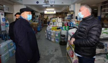 Başkan Yaşar'dan GİMAT esnafına moral ziyareti