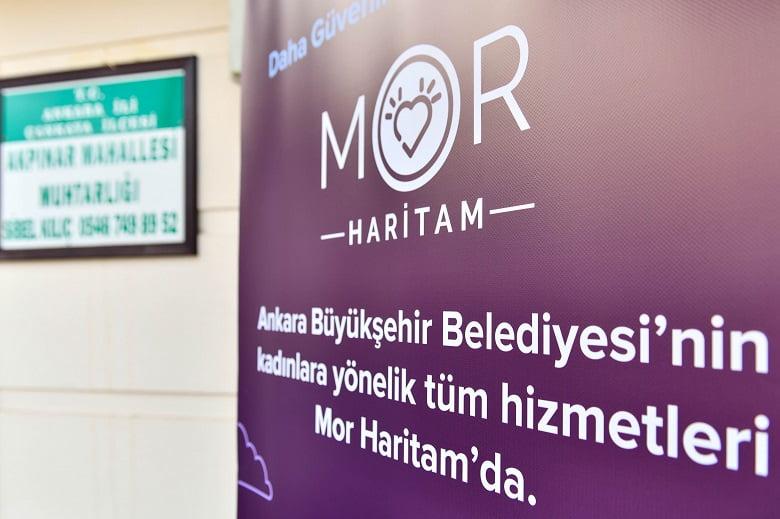 """Büyükşehir'den kadın dostu yeni bir uygulama: """"Mor Haritam"""" hayata geçti"""