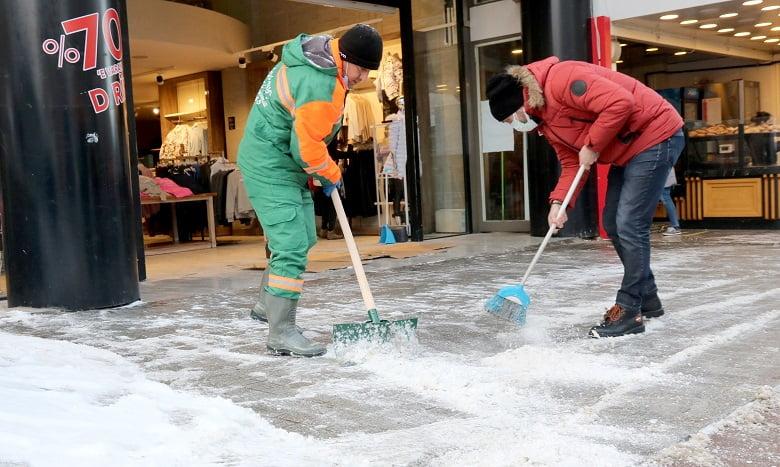 Çankaya'dan buz temizliği