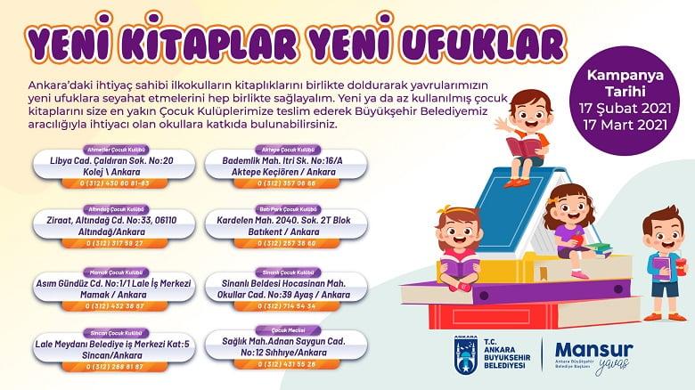 Büyükşehir'den çocuklar için kitap kampanyası