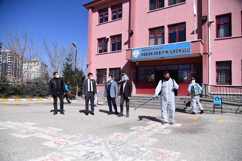Pursaklar'da okullar öğrenciler için hazırlandı