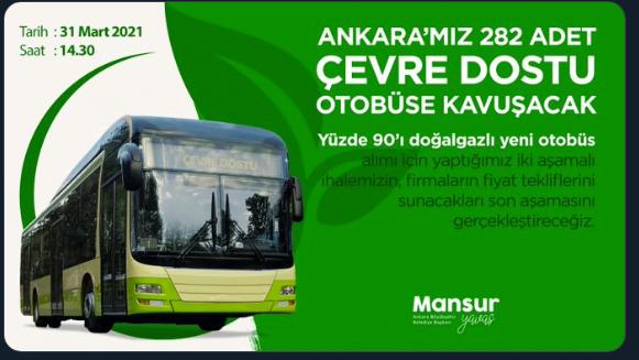 Başkent'te yeni otobüs alımı için geri sayım başladı