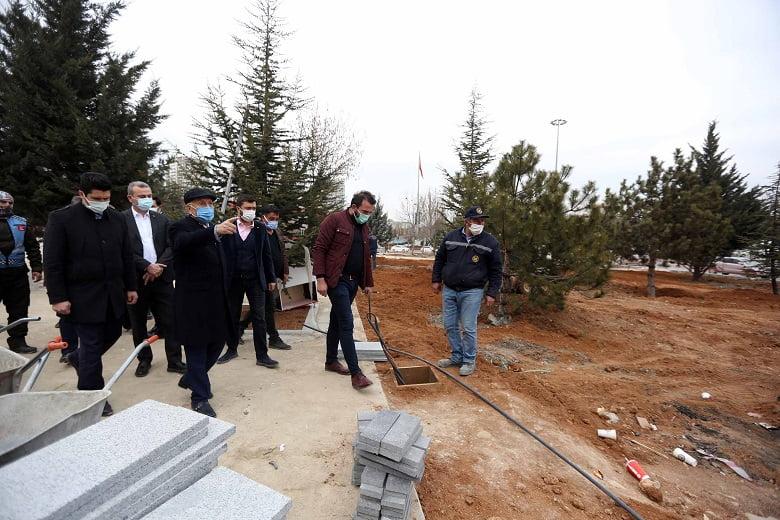 Başkan Yaşar yeni projeleri yerinde inceledi