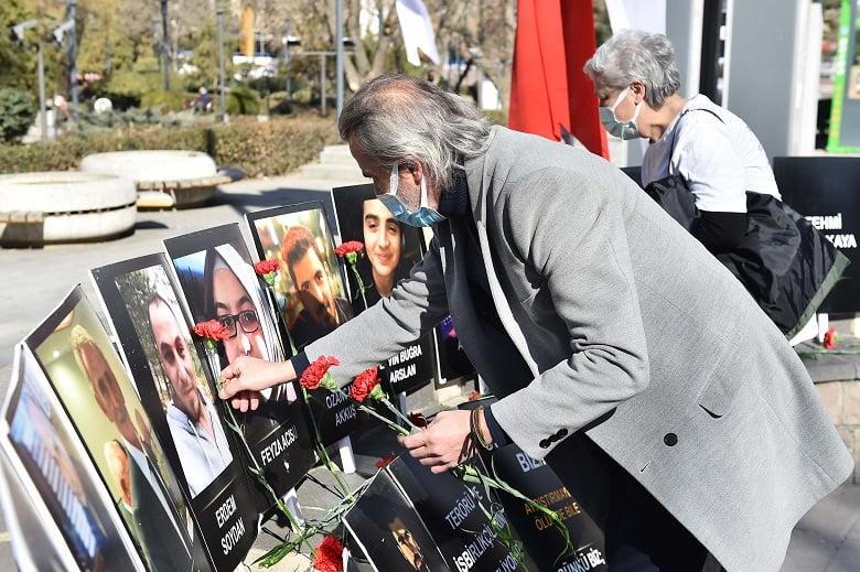 Güvenpark terör saldırısında yaşamını yitiren vatandaşlar anıldı