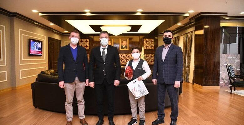 Türkiye Üçüncüsü Başkan Ertuğrul Çetin'in misafiri oldu