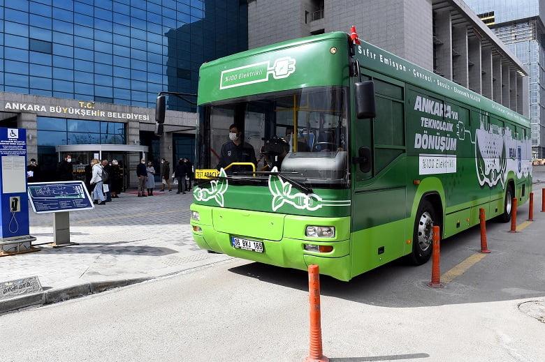 Ankara'da 23 EGO otobüsü daha elektrikli otobüse dönüştürülecek