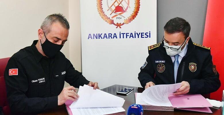 Ankara İtfiayesi arama kurtarmalarda ANDA ile işbirliği yapacak