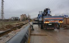 Akyurt'ta içme suyu hattı yapımına başlandı