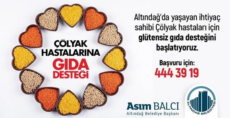 Altındağ'da Çölyak hastalarına gıda desteği