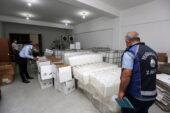 Yenimahalle'de 2 buçuk ton kaçak dezenfektan ele geçirildi