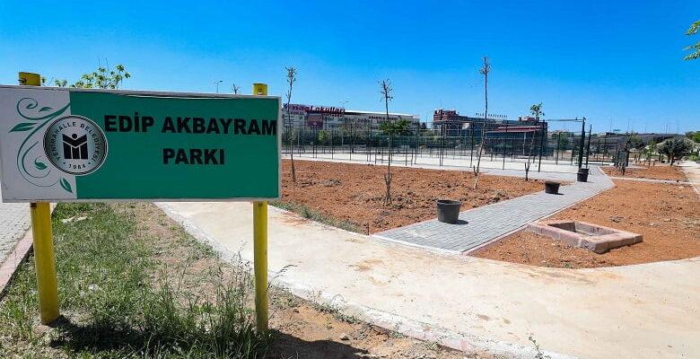 Edip Akbayram Parkı'nda çalışmalarda sona gelindi