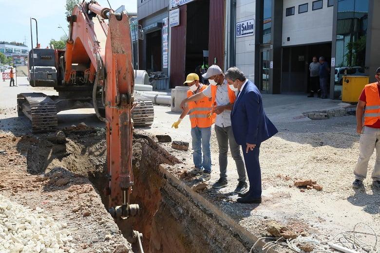 ASKİ OSTİM'in eskiyen kanalizasyon sistemini yeniliyor