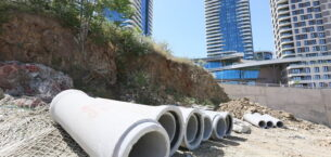 İmrahor Vadisinde kanalizasyon hattı yenileniyor