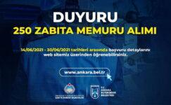 Büyükşehir 250 Zabıta Memuru Alımı Yapacak